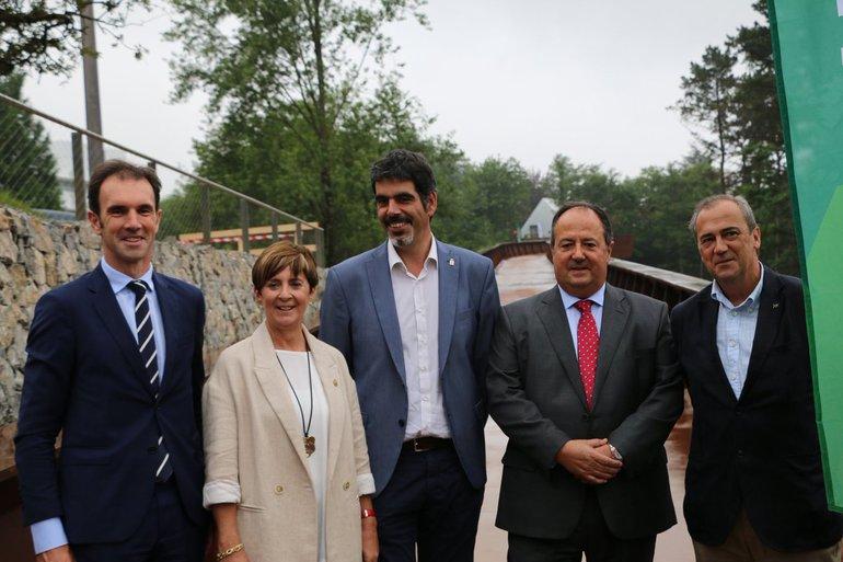 Inauguración pasarela Miramon