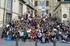 Participantes en la plaza de la Virgen Blanca