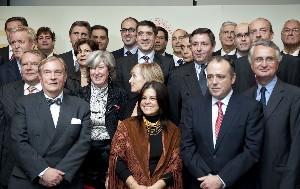 El Lehendakari, junto a los cónsules de Bilbao