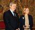 El consejero de Economía y Hacienda, Carlos Aguirre, junto a la Presidenta del Parlamento Vasco, Arantza Quiroga