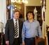Un momento de la reunión con el ministro Mahler.