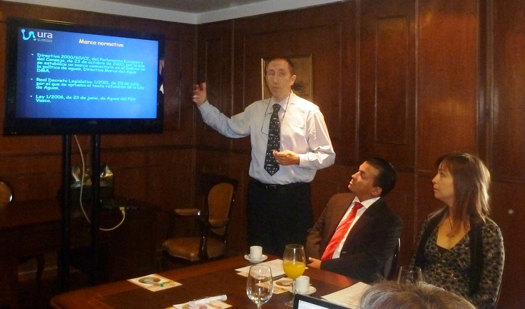 El Director de URA durante la conferencia