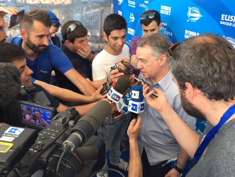 El Lehendakari transmite al Alcalde de Bilbao su