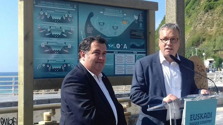 Alfredo Retortillo y Ernesto gasco en la presentación de la temporada de playas 2017