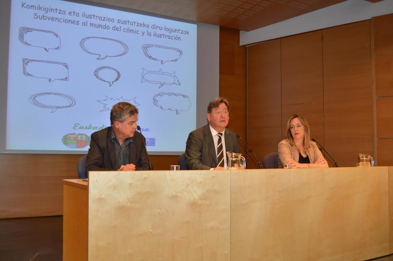 El consejero Bingen Zupiria ha presentado en Vitoria-Gasteiz la primera convocatoria de ayudas destinadas al mundo del cómic y la ilustración