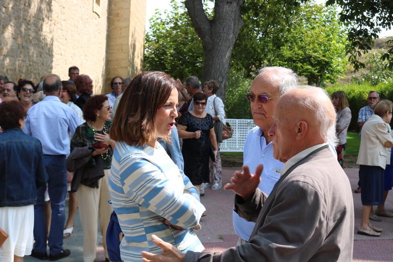 Artolazabal con algunos jubilados de Lantziego