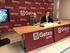 El consejero Arriola y el alcalde de Getxi, Imanol Landa, en la presentación del convenio.