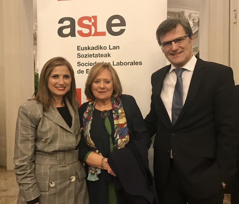 Mª Jesús San José , Sol Aguirre, Max Stelzer (Voestalpine )