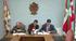 Ernesto Martínez de Cabredo Arrieta, Director General de la Agencia Vasca del Agua; Imanol Pradales, diputado de Desarrollo Económico y Territorial de la Diputación Foral de Bizkaia; Igor Aguirre, alcalde de Mallabia