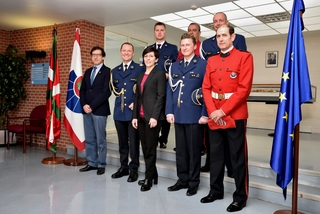 Antwerp police officers are visiting the Ertzaintza facilities