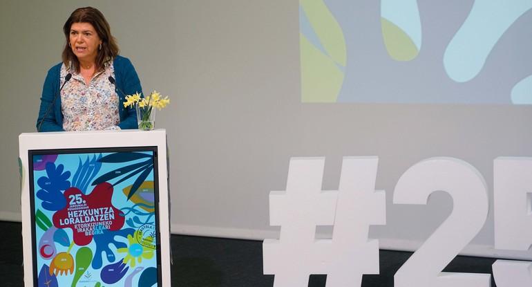 Maite Alonso, durante su intervención en el cierre de las jornadas