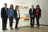 Cristina Uriarte, en el centro, con los viceconsejeros Jorge Arévalo, Maite Alonso, Adolfo Morais y Olatz Garamendi