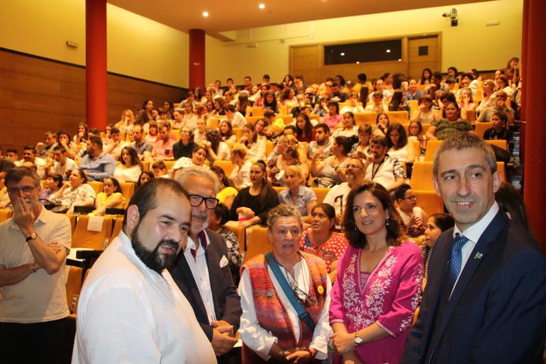 Artolazabal y Saenz-Lanchares, en el acto de Donostia esta mañana
