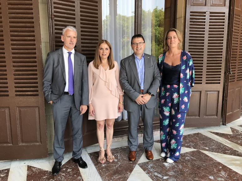 Iñaki Subijana, Mª Jesús San José, Agustín Erkizia e Izaskun Porres