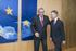 Fotografía de archivo de la reunión del Lehendakari con Juncker en 2017