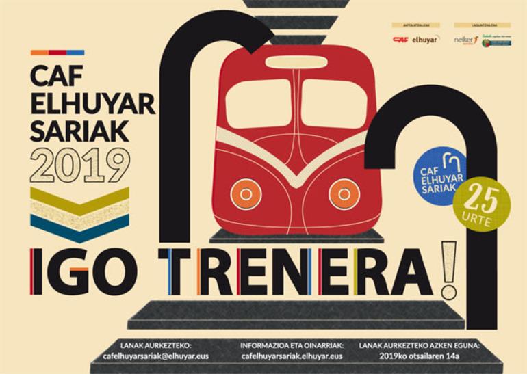 Cartel de los premios CAF-Elhuyar 2019