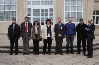 Los responsables de la Escuela de Seguridad y de la Agencia Navarra de Emergencias visitan la Academia de Arkaute