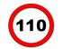 Los paneles de las autopistas y autovías vascas recordarán a los conductores la velocidad máxima de 110 k/m