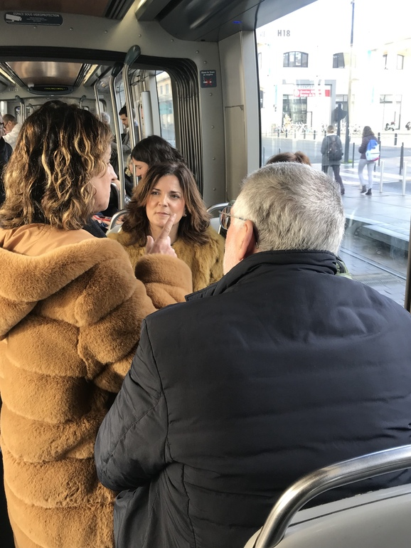 Artolazabal, esta mañana en el tranvía de Bordeaux