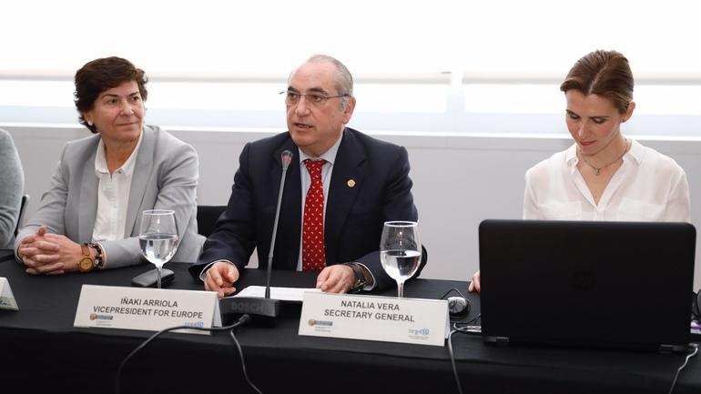 Iñaki Arriola, consejero de Medio Ambiente en la apertura de la XVI Asamblea General de nrg4SD