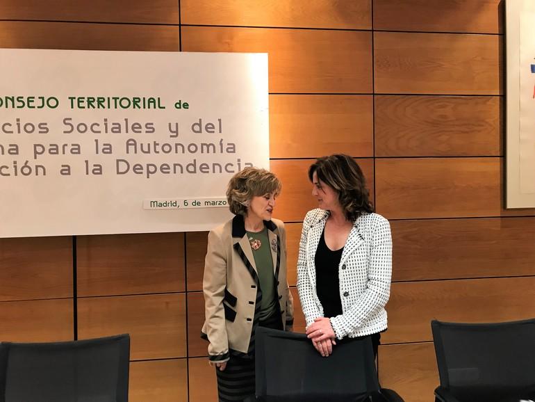 La Ministra Carcedo y Sailburu Artolazabal, esta tarde en Madrid
