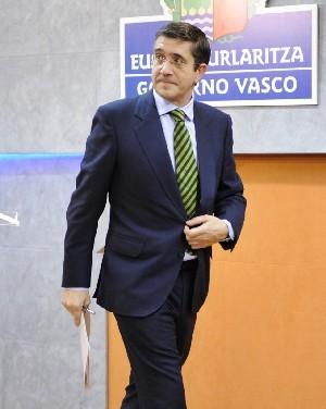 El Lehendakari, tras la rueda de prensa