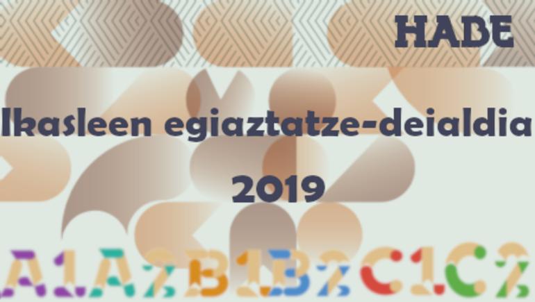 2019ko euskaltegiko ikasleen egiaztatze-deialdia