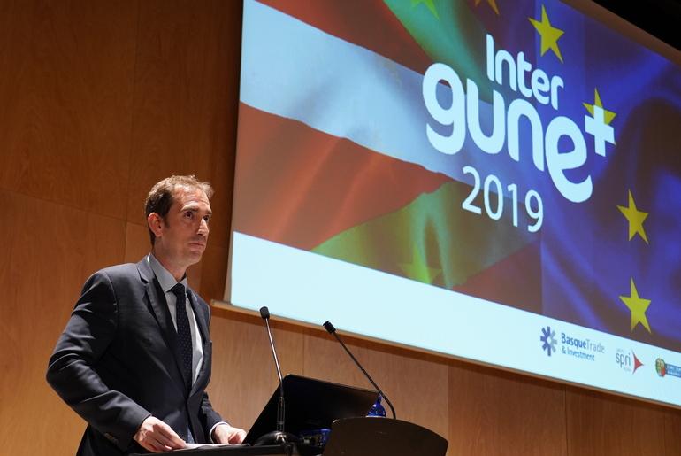 Javier Zarraonandia, Viceconsejero de Industria, inagura Intergune 2019