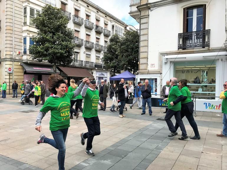 Meta en Plaza del Arca de la capital vasca