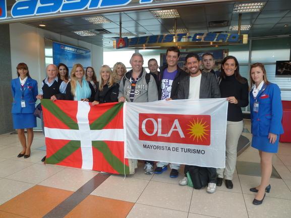El grupo parte rumbo a Euskadi