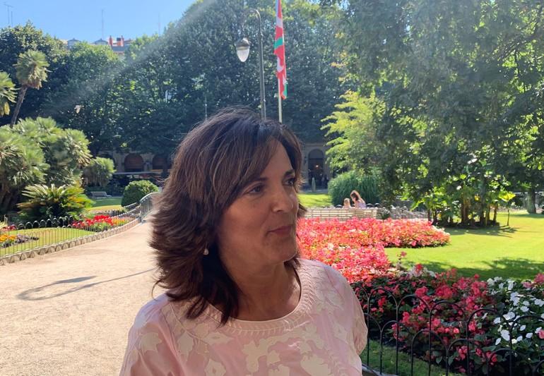 Beatriz Artolazabal, gaur Donostian.
