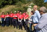 Minister Beatriz Artolazabal and Territorial Deputy Josean Galera share with 20 young Europeans the restoration of the fountain and conditioning of the depopulated Villamardones, in the Natural Park of Valderejo