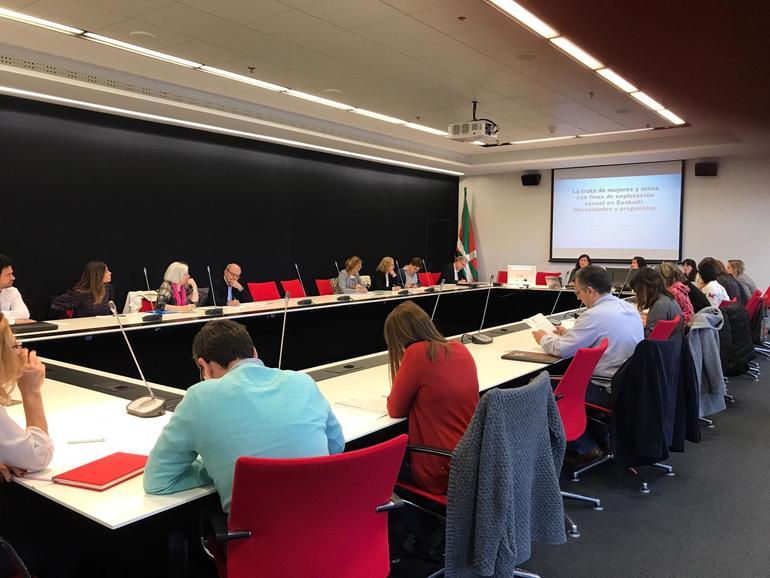 Reunión de la Mesa de Coordinación contra la trata del pasado mes de junio.