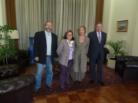 Con la Intendenta de Montevideo