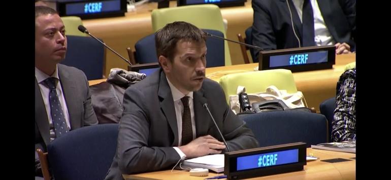 Jorge Fernández Quintela mostró el compromiso de Euskadi con el CERF en las Naciones Unidas