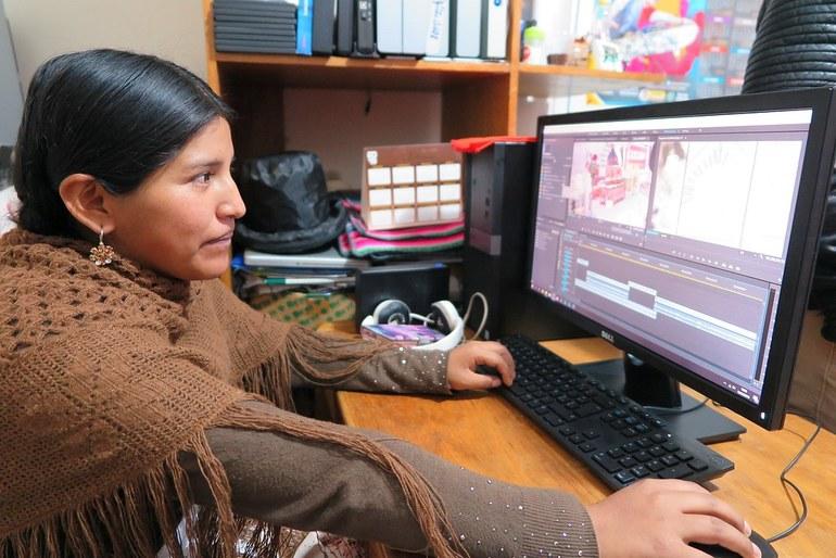 La comunicadora aymara Sandra Chuquimia