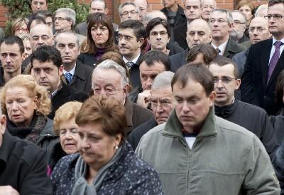 El Lehendakari, durante la concentración en recuerdo a Inaxio Uria