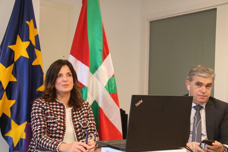 Artolazabal y Muro, hace unos días en una Videoconferencia de Ministros de Empleo y Políticas Sociales de la UE + Video Comisión Europea Demografía