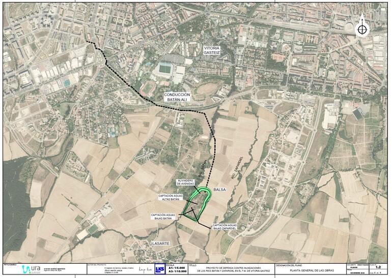 Plano del proyecto de defensa ante las crecidas de los ríos Batán y Zapardiel