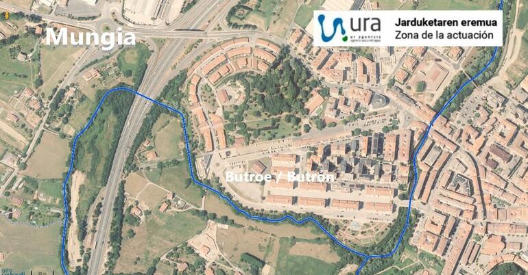 Localización de las obras en Mungia