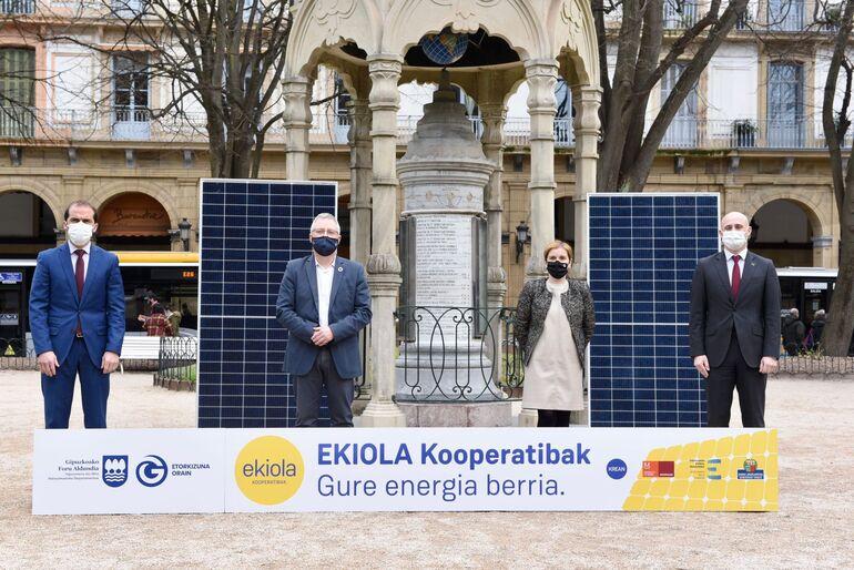 Convenio Ekiola para instalar parques solares en Gipuzkoa