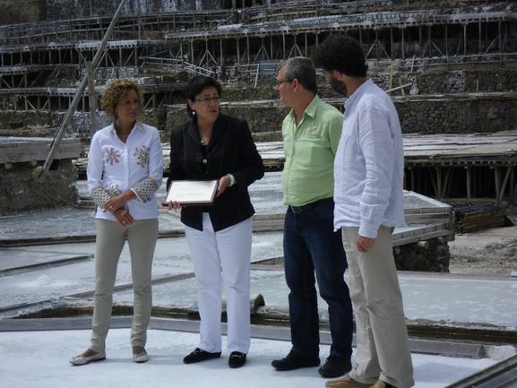 Malentxo Arruabarrena (i), Pilar Unzalu, Iñaki Atxukarro y Mikel Landa (d)