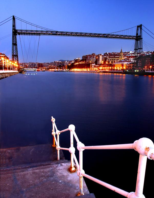 Puente de Bizkaia, desde Portugalete