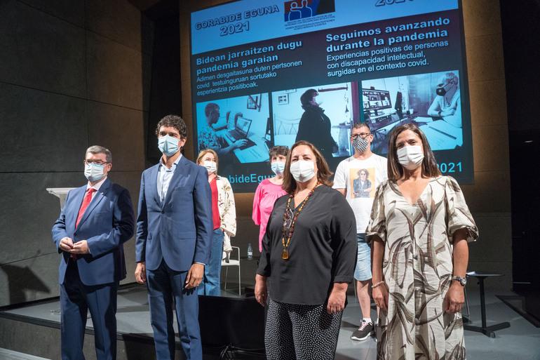 Beatriz Artolazabal durante la celebración del Día Gorabide 2021