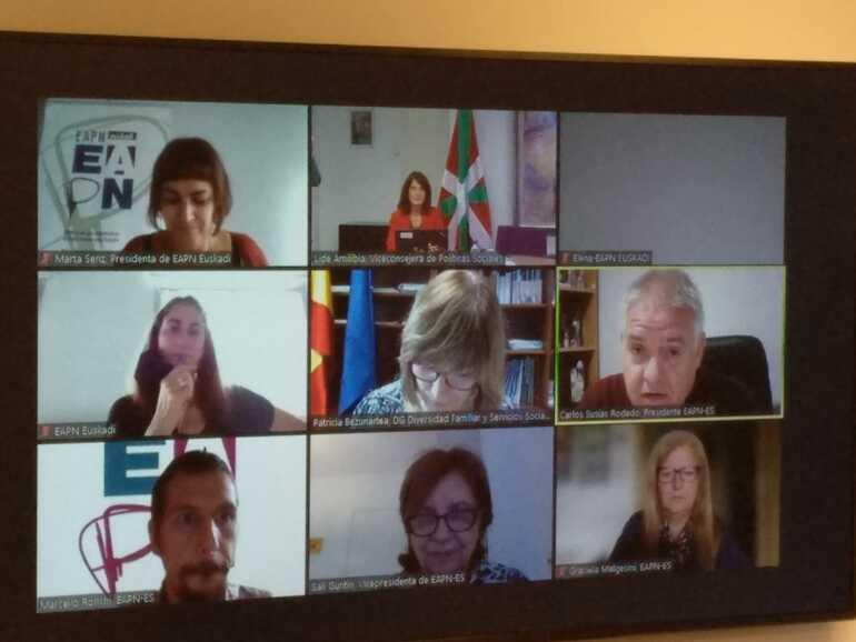 Amilibia durante el seminario online