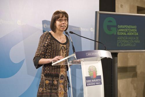 Marta Ares, Directora de la Agencia Vasca de Cooperación al Desarrollo