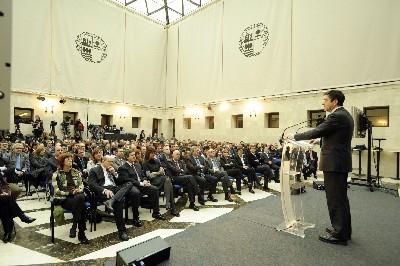 El Lehendakari, durante su intervención