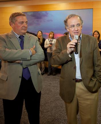 El Director de Colectividades Vascas y el Secretario General de Acción Exterior reciben a los jóvenes de las comunidades vascas