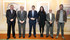 el Lehendakari saluda a Ricardo Bazterra, Adelaide Daraspe y Aitor Arruti