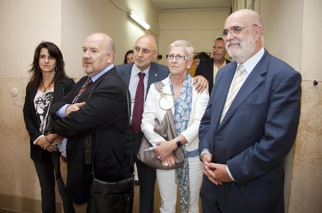 Jesús Loza, junto a otros miembros del Parlamento Vasco y el consejero de Interior, Rodolfo Ares, en una visita a los museos sobre el holocausto nazi en Berlín
